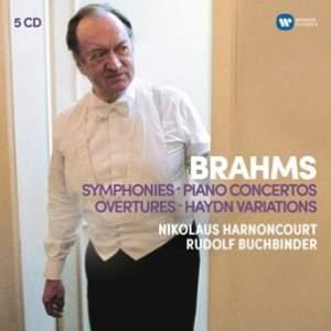 Brahms: Symphonies, Overtures&#x3B; Haydn Variations & Piano Concertos