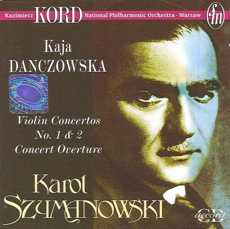 Szymanowski: Violin Concertos - CD Accord: ACD026 - download