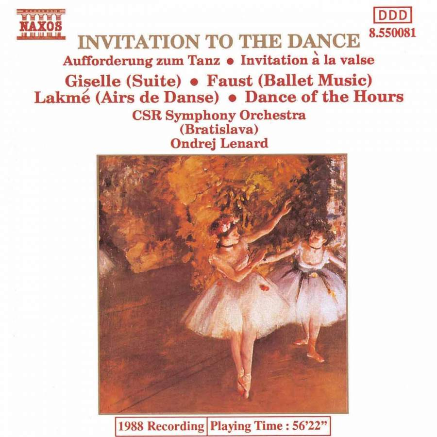 Invitation to the dance naxos 8550081 cd or download presto invitation to the dance stopboris Gallery