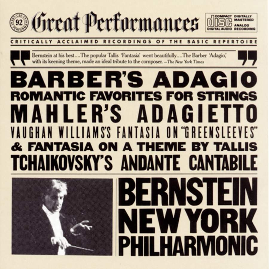 Barber 39 s adagio and other romantic favorites for strings for Adagio new york